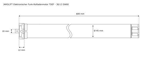 Rohrmotor JAROLIFT elektr Rollladenmotor Rollladenantrieb TDEP 20//13 SW60