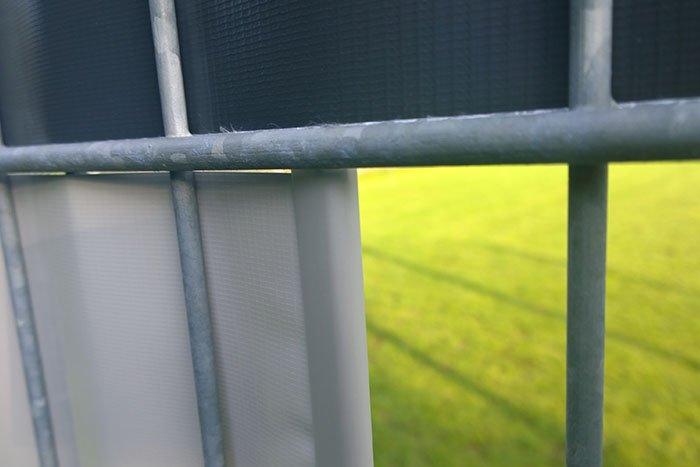 Jarolift Befestigungsclips PVC-Sichschutzstreifen Impression grau anthrazit