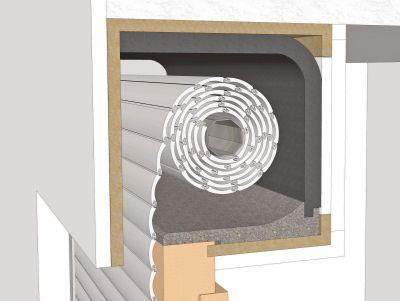 Rollladenkasten dämmen mit KOMBIFLEX PE oder TF von DiHa