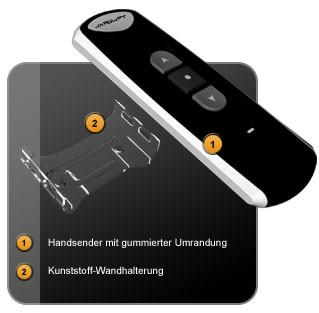 Der 1-Kanal Funk Handsender TDRC 01 von Jarolift im Detail !