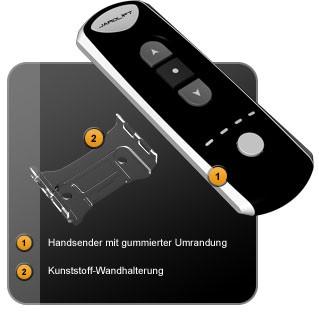 Der 4-Kanal Funk Handsender TDRC 04 von Jarolift im Detail !