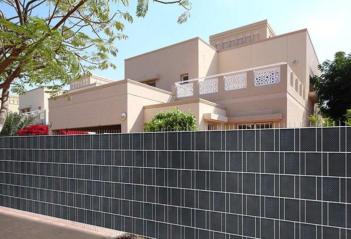 Jarolift PVC-Sichschutzstreifen Impression weiss Balkon