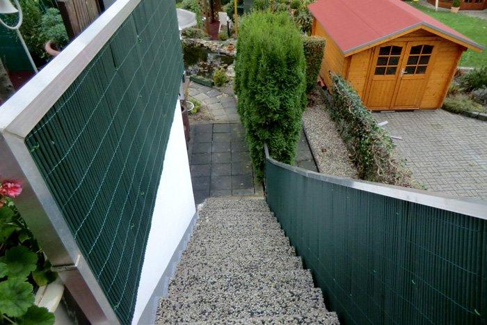 Jarolift PVC-Sichschutzmatten grün Impression