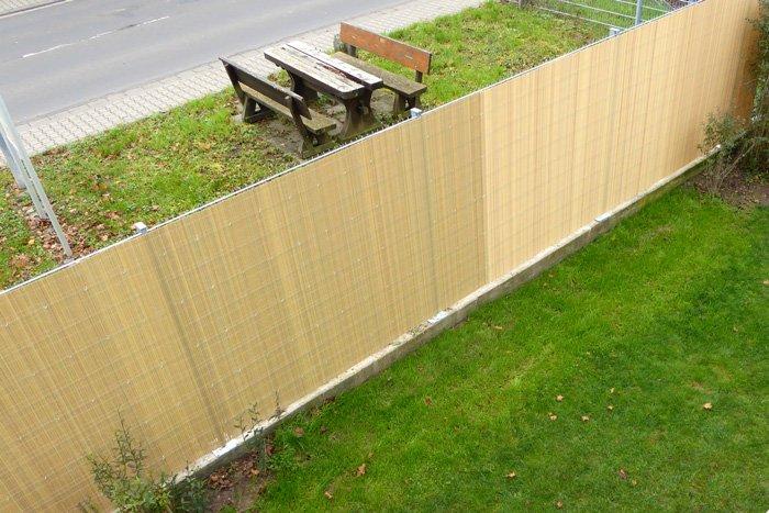 Jarolift Sichtschutzzaun Sichtschutzmatte Bambus
