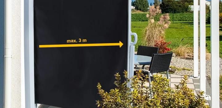 Die Seitenmarkise / Vertikalmarkise / Seitenwandmarkise in Aktion!